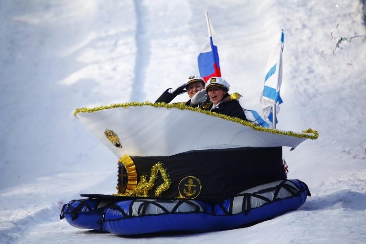 Открытка с лыжами своими руками