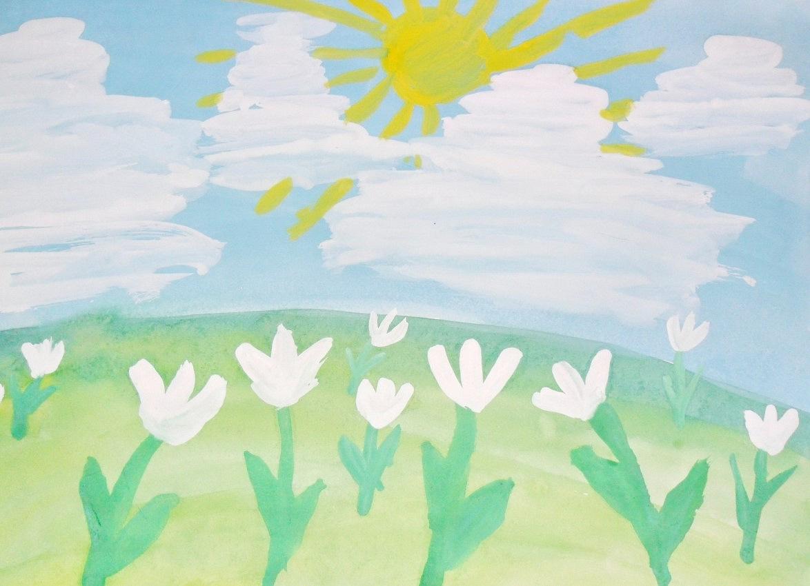 Нарисуй картинку про весну рисование в средней группе
